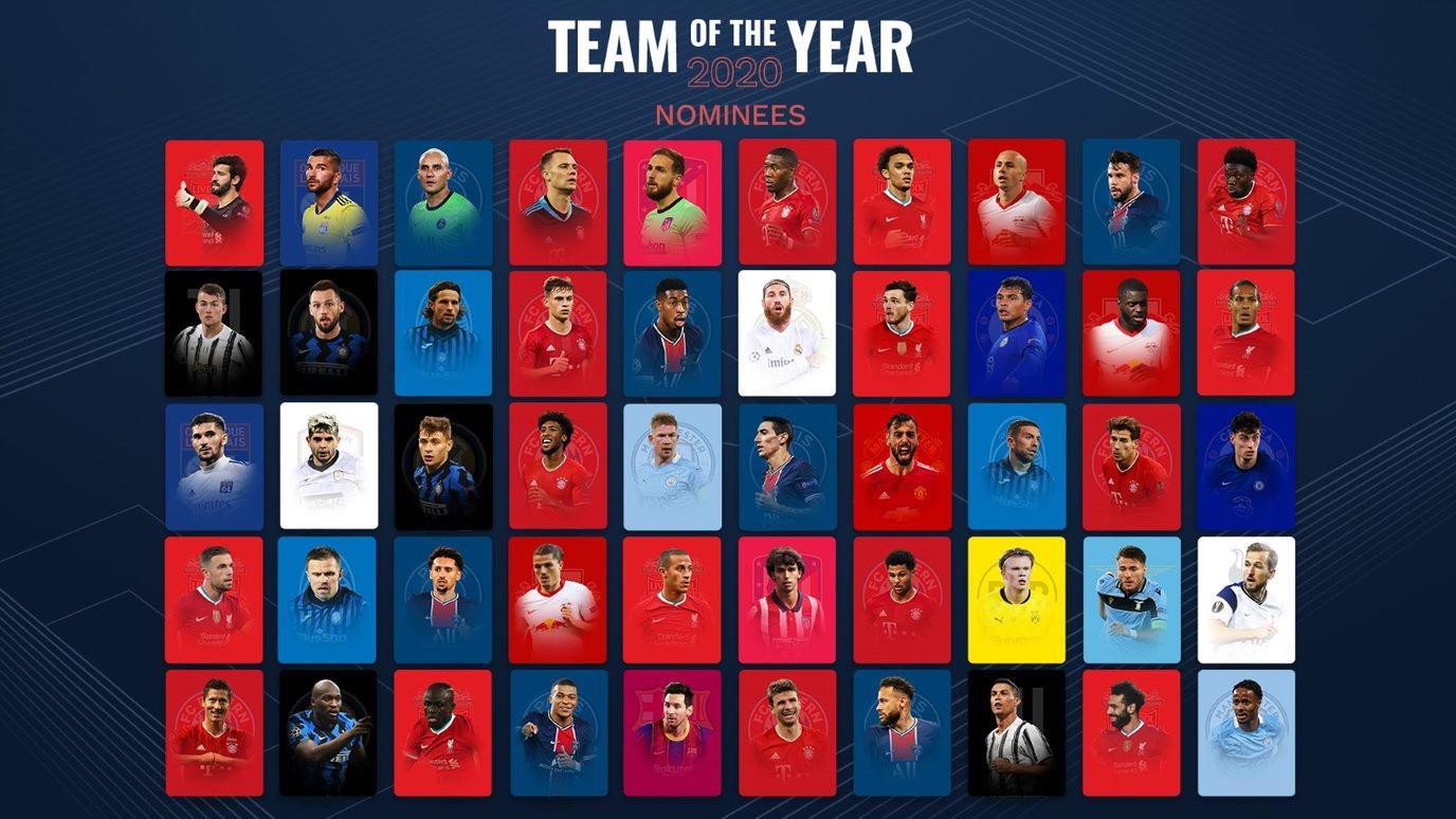 2020 yılın erkek takımı