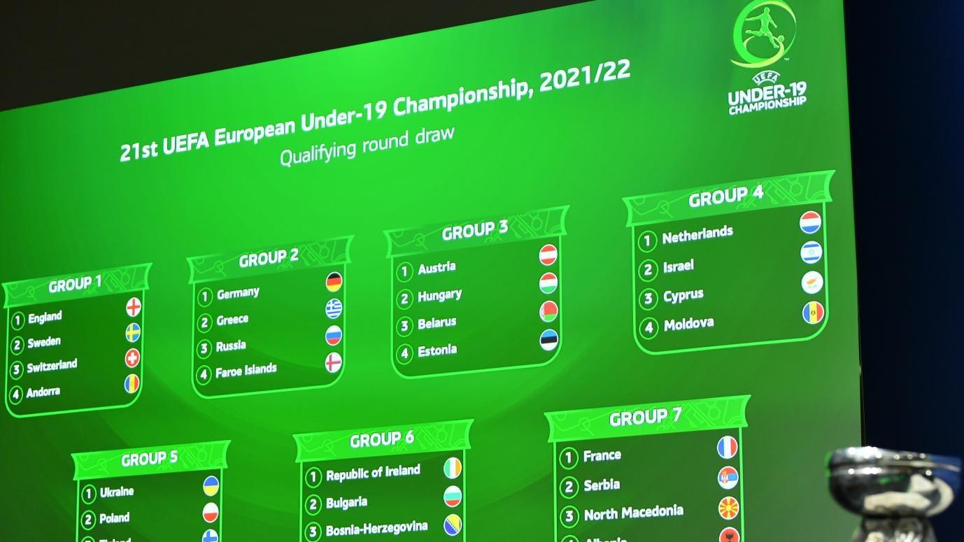 2021/22 u19 ön eleme tur grupları